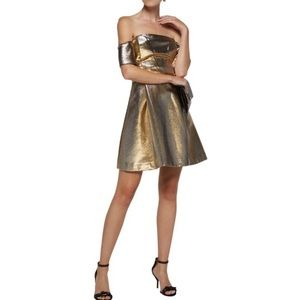 Sandro Paris Sz 1/S Palacio Mini Dress Metallic
